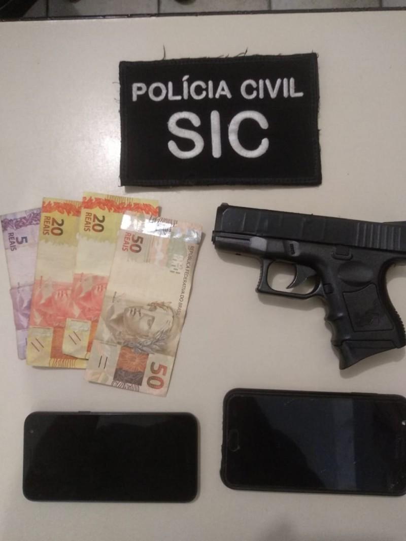Polícia prende assaltante de loja