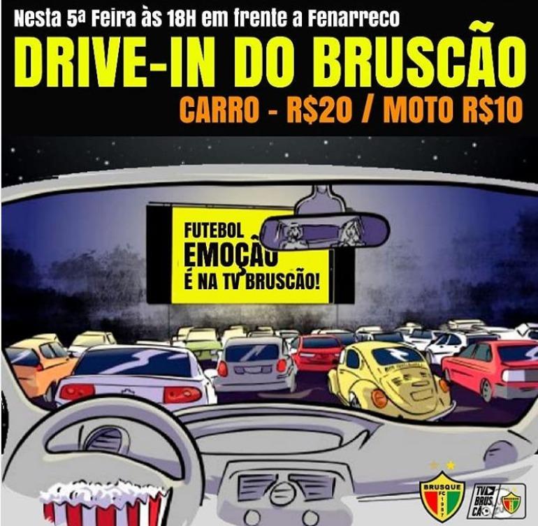 Drive-in de JEC x Brusque é cancelado