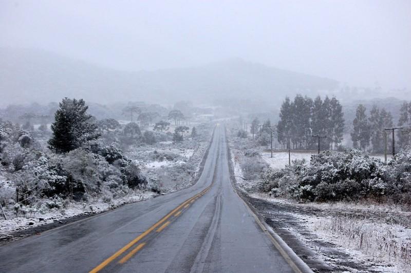 Neve pode voltar ao sul no feriadão de 7 de setembro